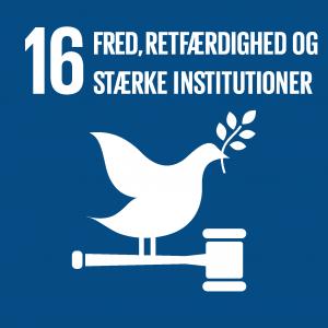 Verdensmål 16 Fred, retfærdighed og stærke institutioner