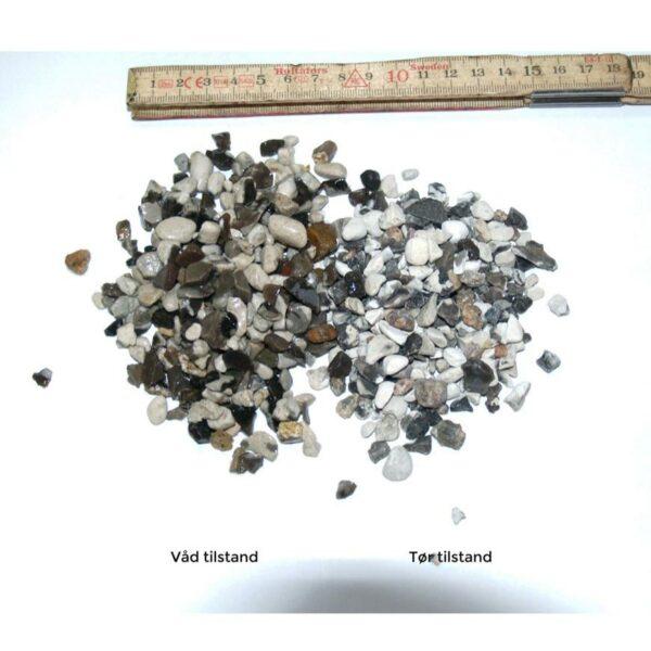 Hvide Perlesten 4-8 mm