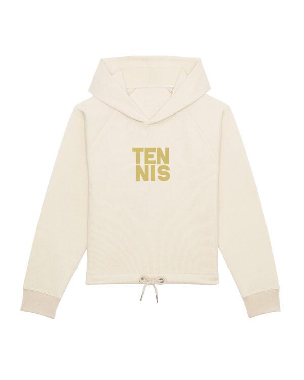 TENNIS-cropped hoodie