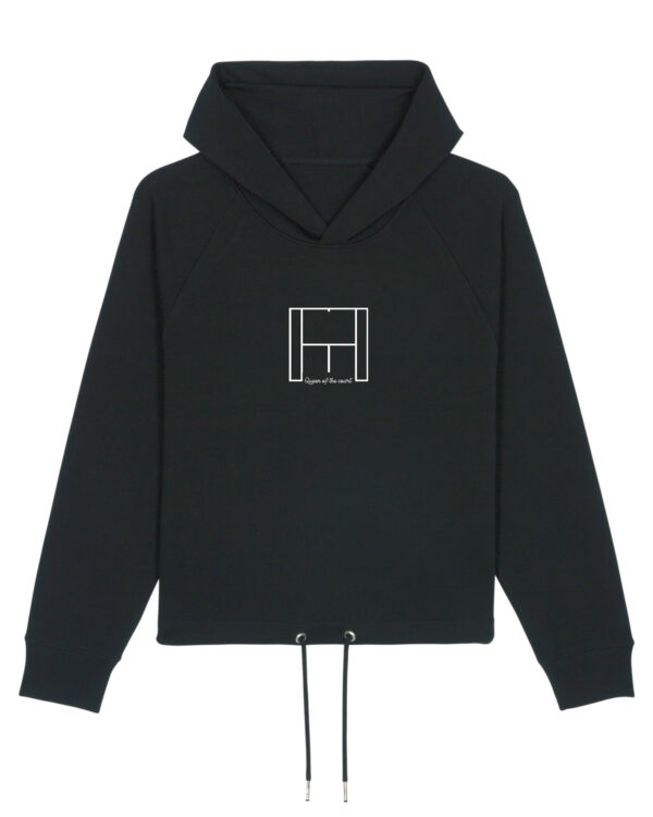 Queen of the court Cropped hoodie