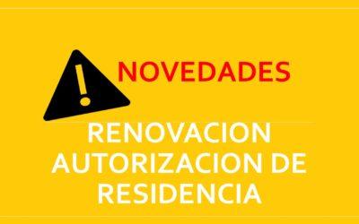 RENOVACIÓN AUTORIZACIÓN DE RESIDENCIA CONTEXTO COVID 19 (PARO, IMV, ERTE, CESE ACTIVIDAD)