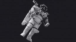 Astronaut in de ruimte als metafoor voor de merk missie