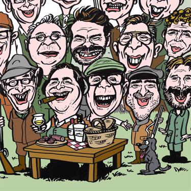 Karikatuur van groep