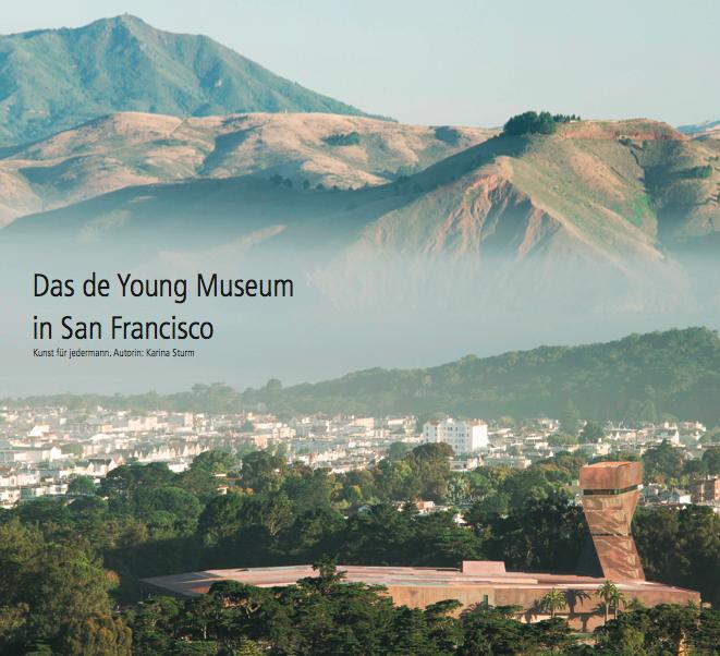 Auf dem Bild sieht man eines der Fine Arts Museen in San Francisco: das de Young Museum im Golden Gate Park aus der Vogelperspektive. Im Hintergrund ist außerdem die Nachbarschaft Inner Sunset zu finden.