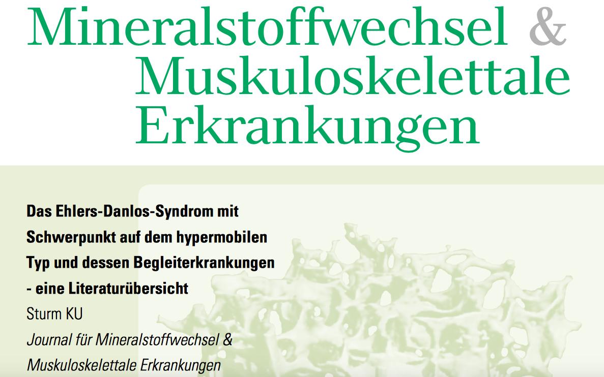 Ein Screenshot des Covers des Journals für Mineralstoffwechsel
