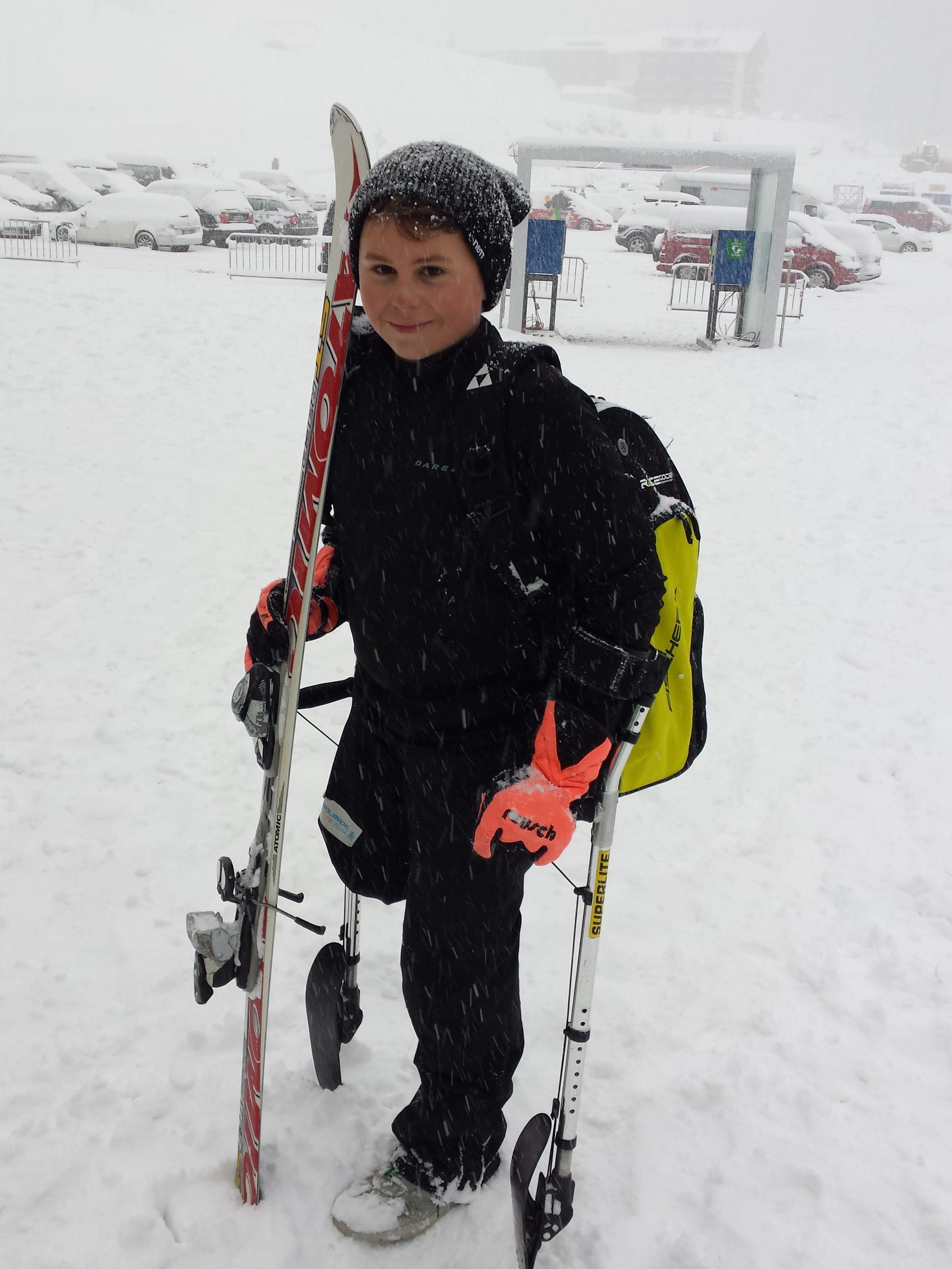 Skiing pro Christoph Glötzner