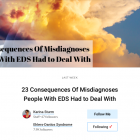 Screenshot von einem Artikel für the Mighty: 23 Consequences of Misdiagnosis People With EDS Had to Deal With