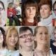Eine Collage von 9 erwachsenen und jugendlichen Frauen und zwei Kindern des Films We Are Visible