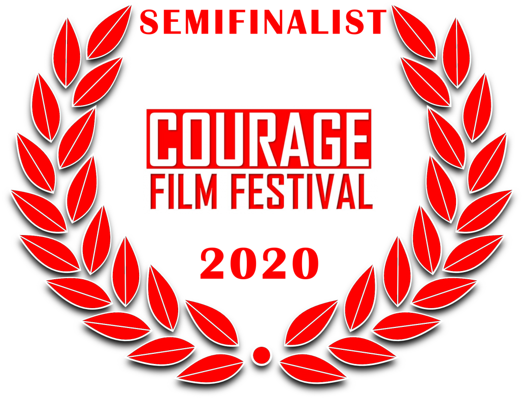 a red film festival laurel: Semifinalist Courage Film Festival 2020