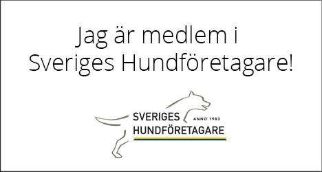 Jag är medlem i Sveriges Hundföretagare. Karin Nyméri och Maria Bondesson