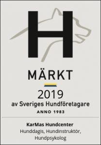 H-märke av sveriges hundföretagare. Länkande bild till info