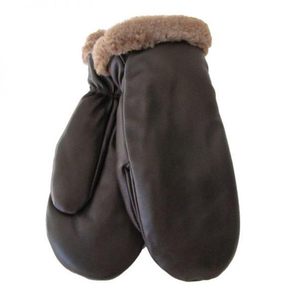 Nahkarukkanen miehet (lampaannahka) - ruskea