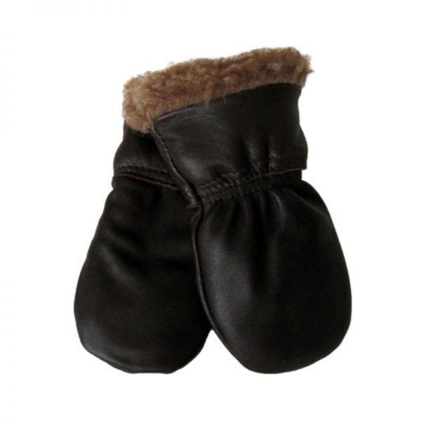 Nahkarukkaset vauvoille - ruskea