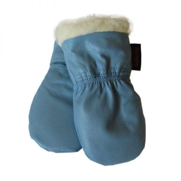Nahkarukkaset vauvoille - vaalean sininen