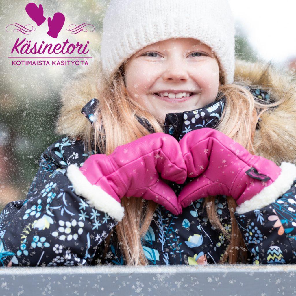 Nahkarukkaset ovat lämpimät ja suloiset talvihanskat lapselle.
