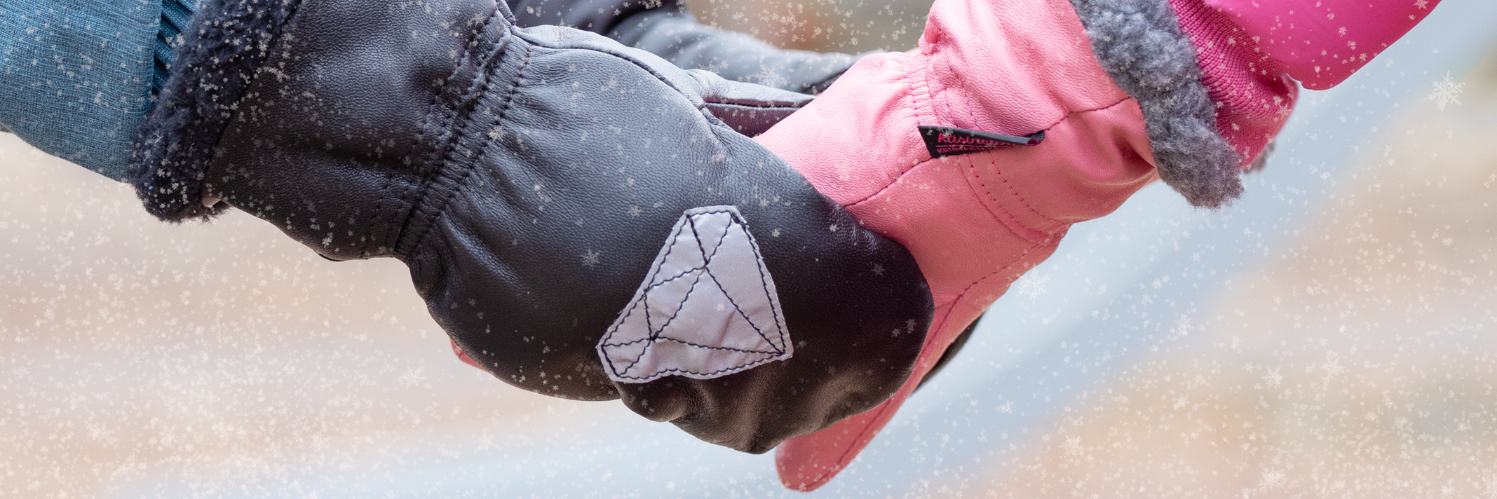 Talvihanskat-Nahkarukkaset lapselle - Käsinetori