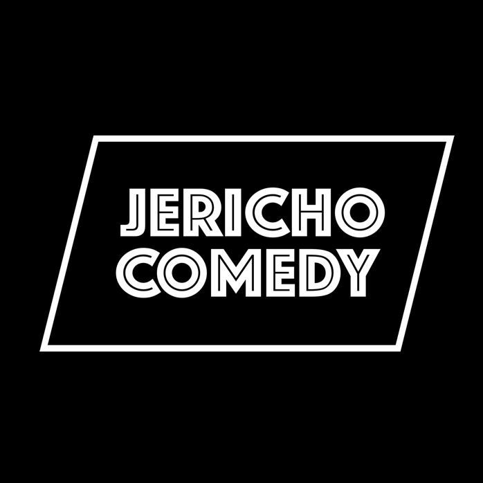 It's the Jericho Comedy logo, featuring their name in white font on a black background.