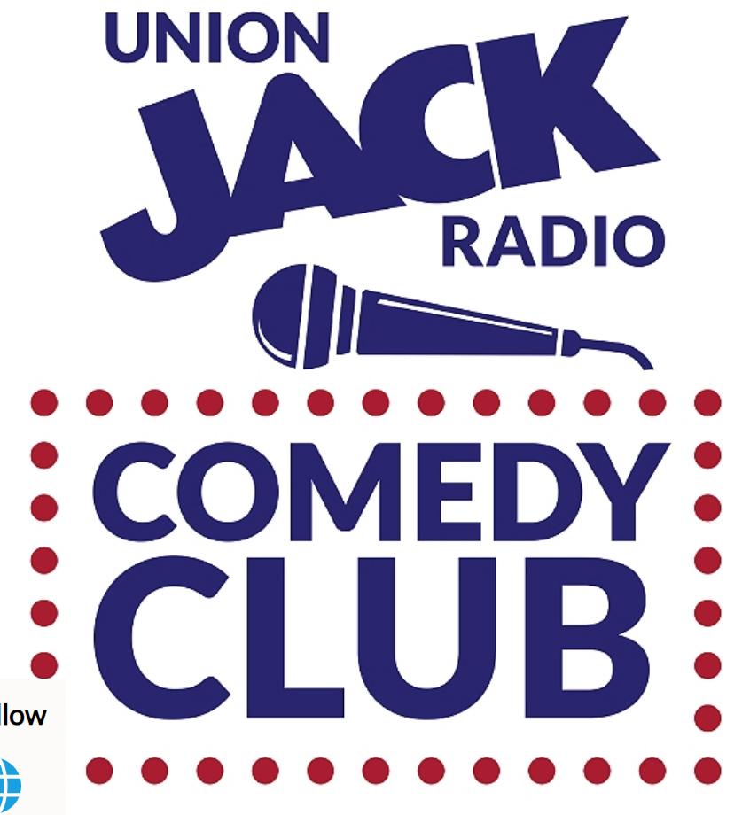 It's the Union Jack Radio Comedy Club logo.