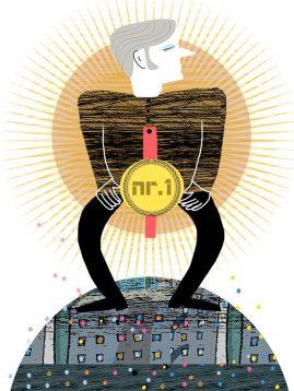 Manspris, illustration för Arkitekten av Kati Mets