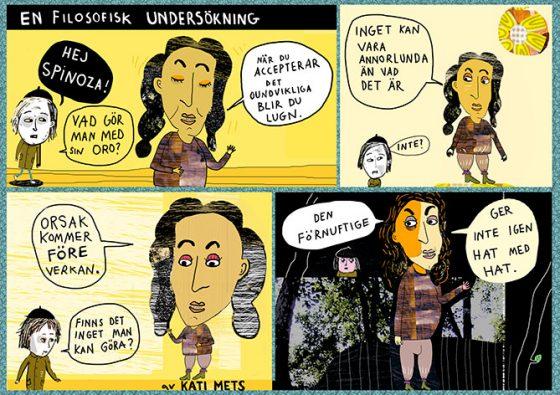 En filosofisk undersökning, Spinoza, av Kati Mets. Serie för Modern Filosofi.