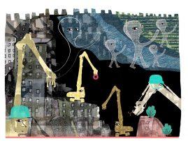 Illustration av kati Mets, för tidningen Arkitekten
