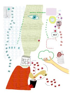 illustration om Mejlkoll av Kati Mets för Kollega
