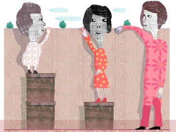 Illustration om rättvisa, av Kati Mets för Arkitekten.