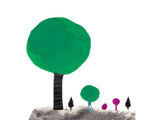En skiss av Kati Mets, Stort träd - litet träd