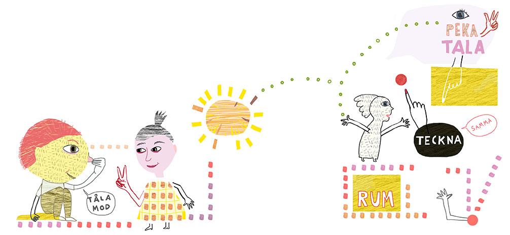 Illustration av Kati Mets för Specialpedagogik.