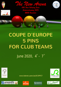 COUPE D'EUROPE 5 PINS FOR CLUB TEAMS @ The New Areana