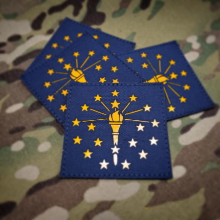 Keystone Tactical Supply Indiana state flag patch