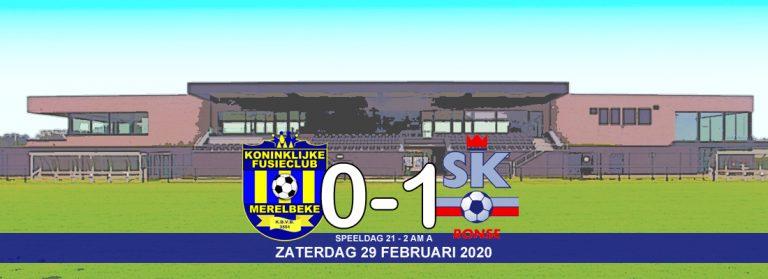KFCM kan 0-1 achterstand niet ombuigen tegen SK Ronse