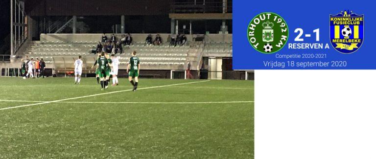 Reserven verliezen openingswedstrijd competitie (2-1)