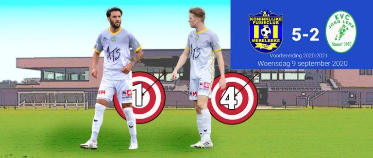 Puike prestatie tegen Jong Lede (5-2)