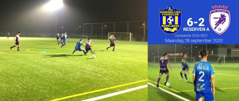Reserven winnen 6-2 tegen Racing Harelbeke
