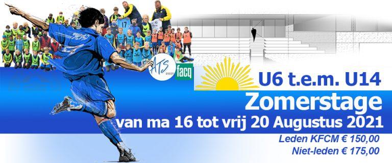 Zomerstage 2021 voor U6 – U14