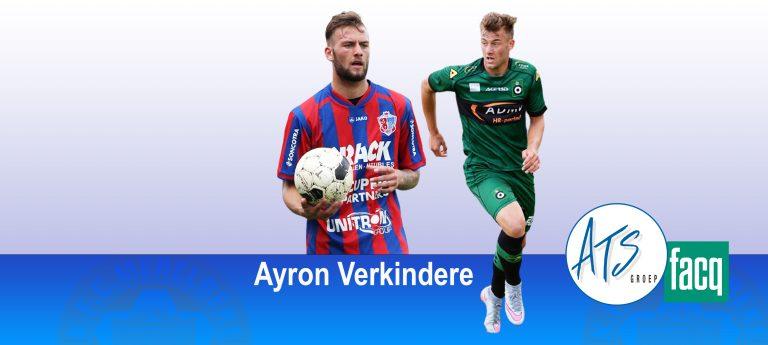 Ayron Verkindere komt naar KFC Merelbeke seizoen 2021-2022.