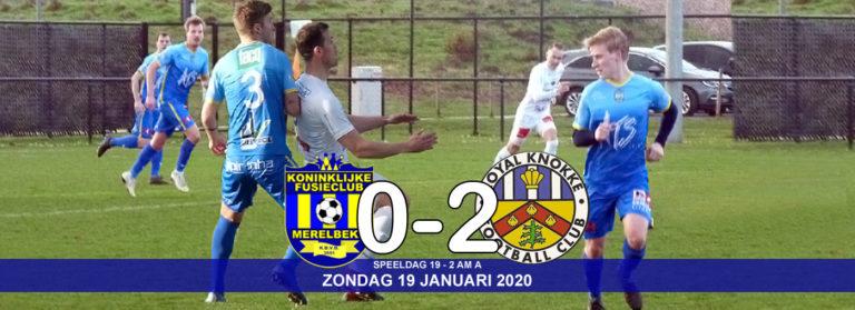 Kansen niet afgemaakt tegen bleek acterend R Knokke FC (0-2)