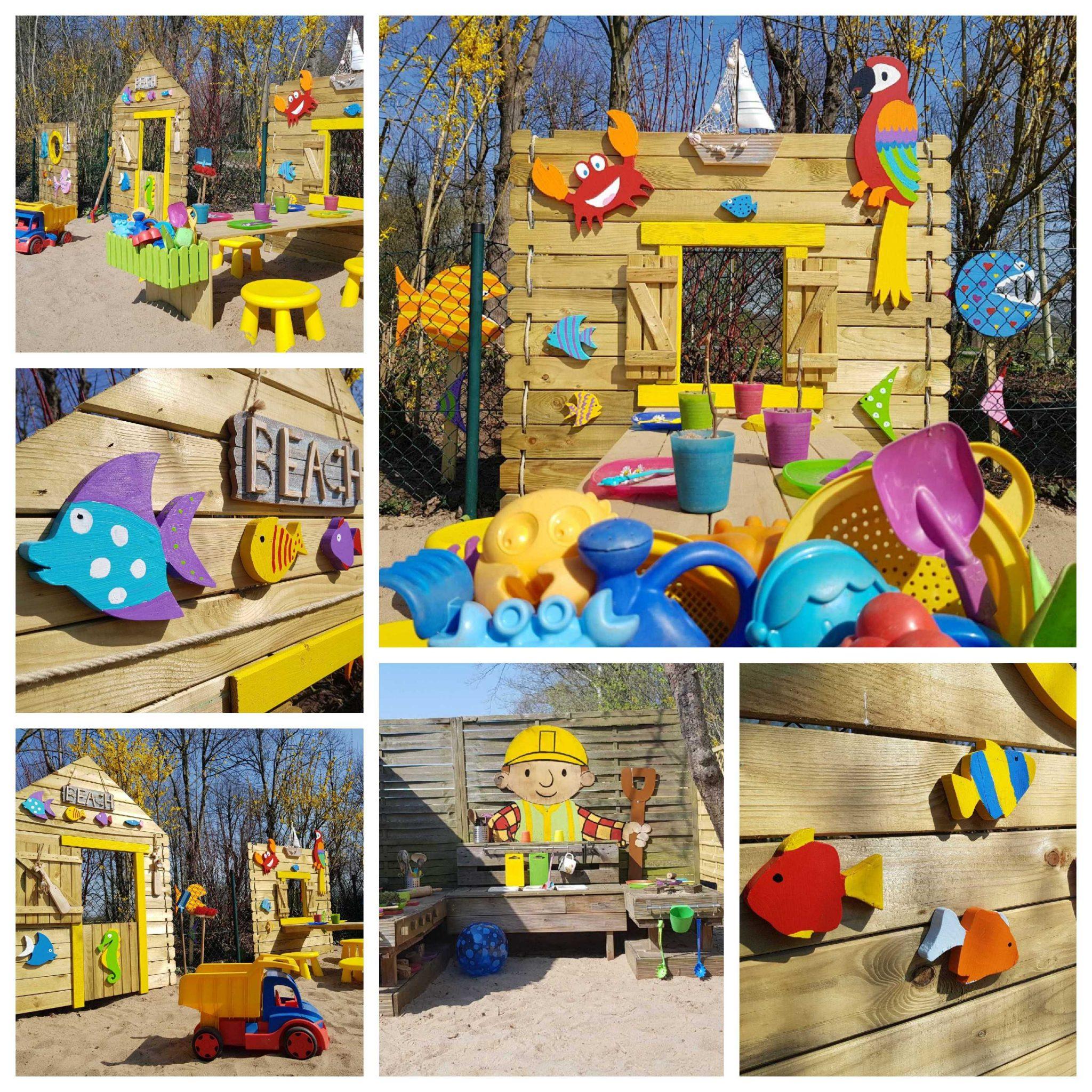 Kid Zone Erlebnisgarten mit Kinderbeachclub - Konzept
