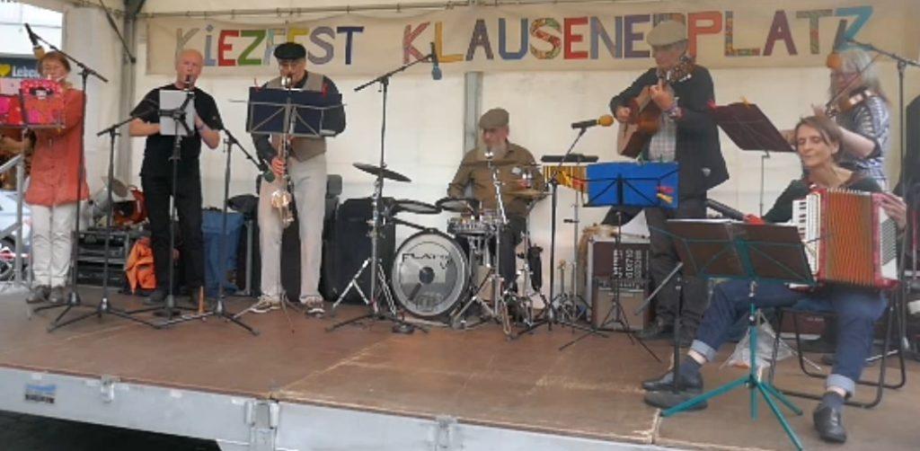 KiezKlezmer Konzert am 28.8.2021 beim Kiezfest auf dem Klausenerplatz