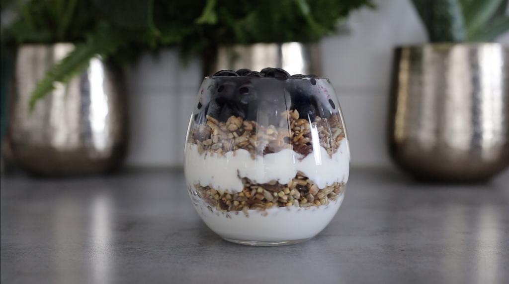 Vegan Blueberry Granola Parfait