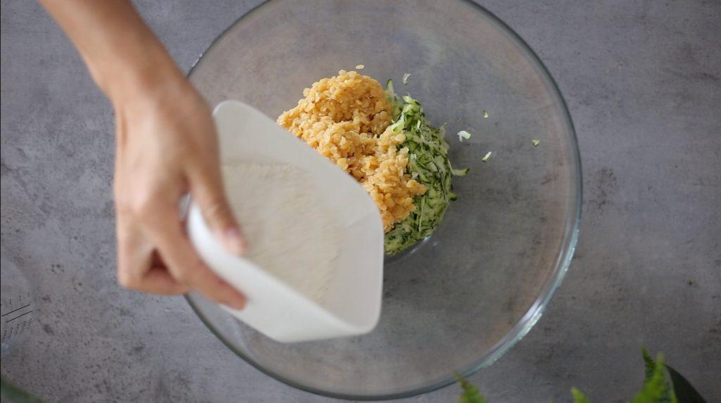 Vegan Zucchini Lentil Fritters