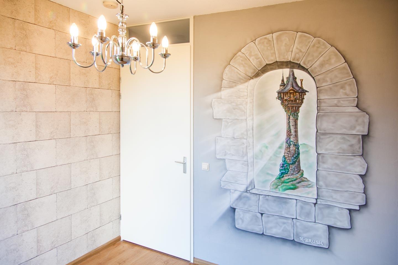 Kasteelkamer muurschildering
