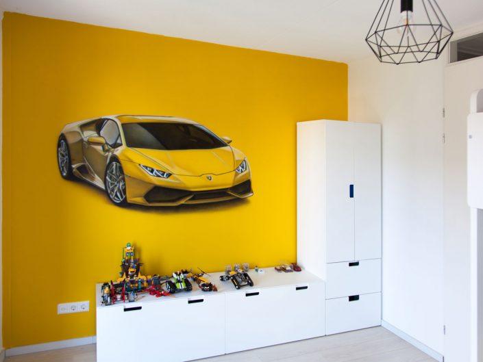 Lamborghini muurschildering