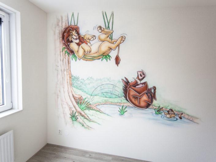 Lionking muurschildering