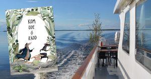 """M/S Laponia och boken """"Kom öde ö rädd"""" av Fanny Felicia Svanberg, utgiven på Black Island Books"""