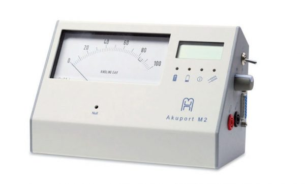 Akuport M2 EAV meet apparaat. Mesologen