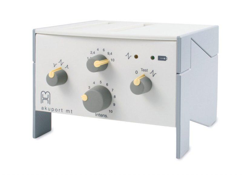 Akuport MT toepassing van elektro acupunctuur