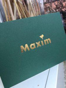 geboortekaartje Maxim