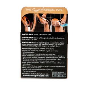 Kinesio Tape Classic Beige Verpakking achterkant - Kinesio Nederland